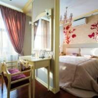 прямоугольная спальня 16 кв м шторы