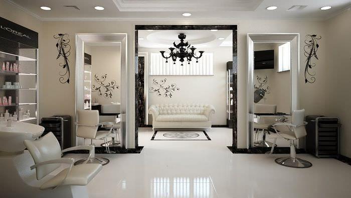 дизайн помещения салона красоты