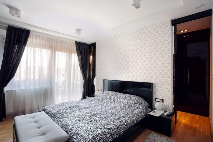 современный дизайн спальни 11 кв м