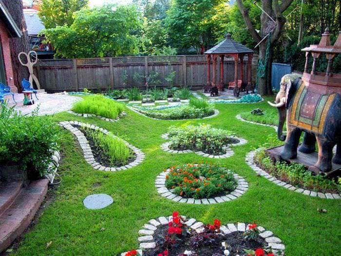 создание красивого садового участка