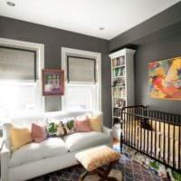 детская спальня для новорожденного