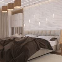 спальня 15 м2 стильный дизайн