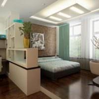 спальня кабинет интерьер