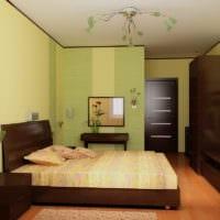спальня площадью 14 м2 современный интерьер