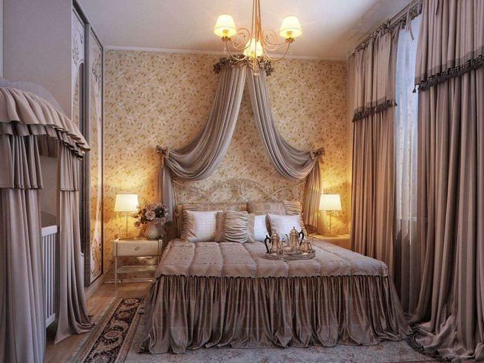 красивый дизайн спальни с детской
