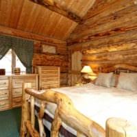 спальня в деревянном доме дизайн интерьера