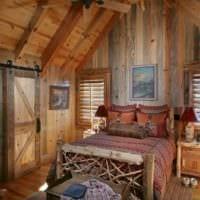 спальня в деревянном доме мебель из древен