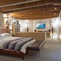 спальня в деревянном доме освещение