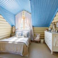 спальня в деревянном доме оригинальный интерьер