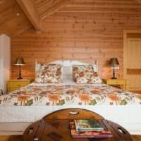 спальня в деревянном доме оформление