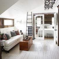 спальня на мансарде дизайн интерьер