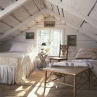 спальня на мансарде дизайн интерьера фото