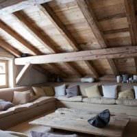 спальня на мансарде дизайн