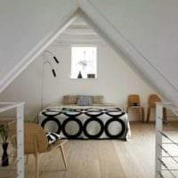 спальня на мансарде фото идеи