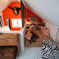 спальня на мансарде фото интерьера