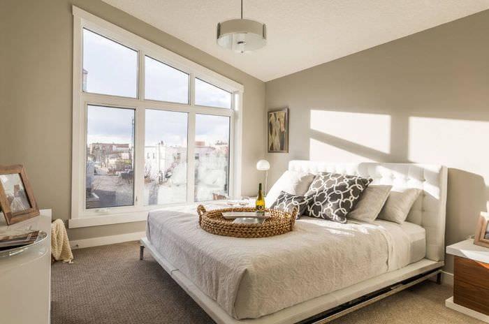светлый дизайн спальни 16 кв м