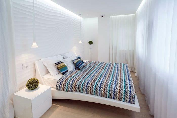 светлый дизайн спальни 11 кв м
