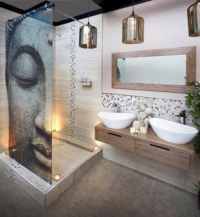 восточный дизайн ванной комнаты