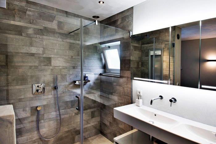 варианты ванной с душевой кабиной