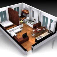 3D дизайн визуализация квартиры фото интерьер