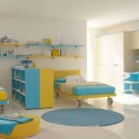 комната в желто голубых тонах