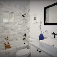 плитка белого цвета для ванной