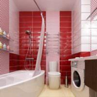 красная плитка для ванной