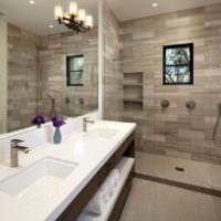 плитка для ванной из камня идеи