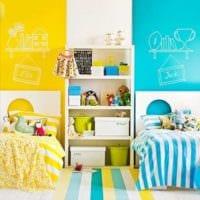 яркий дизайн комната мальчика и девочки