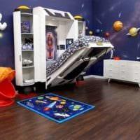 детская комната для мальчика практичный интерьер