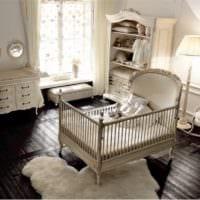 детская комната для новорожденного с кроваткой