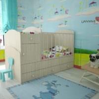 детская комната для новорожденного кровать комод