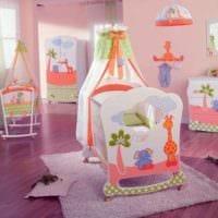 детская комната для новорожденного яркая