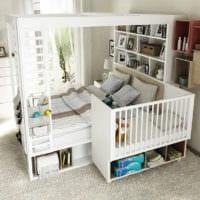 детская комната для новорожденного в спальне родителей