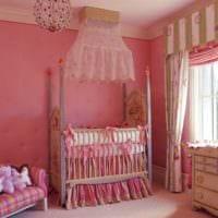детская комната для новорожденного для девочки