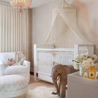 детская комната для новорожденного светлая