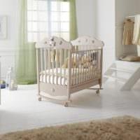 детская комната для новорожденного бежевая кроватка