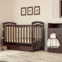 детская комната для новорожденного кроватка маятник
