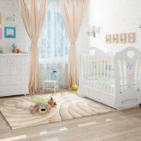 детская комната для новорожденного кровать маятник