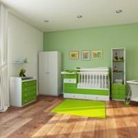 детская комната для новорожденного зеленые тона