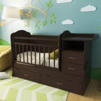 детская комната для новорожденного кровать трансформер