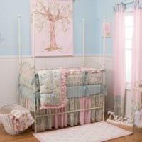 детская комната для новорожденного дизайн интерьера