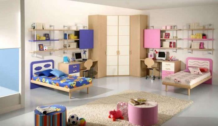 идеи интерьера детской для разнополых детей