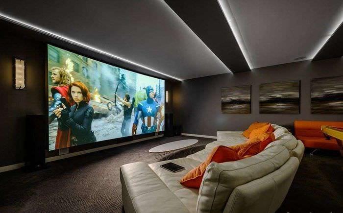 мебель в домашнем кинотеатре