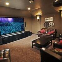 дизайн домашнего кинотеатра декор идеи