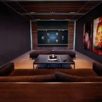 дизайн домашнего кинотеатра фото декор