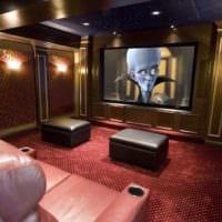 дизайн домашнего кинотеатра фото декора
