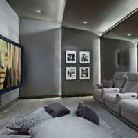 дизайн домашнего кинотеатра фото интерьера