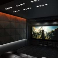 дизайн домашнего кинотеатра мебель фото