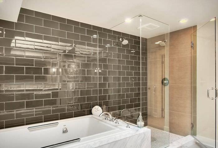 дизайн стеклянной плитки для ванной